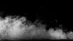 Raccolta bianca del fumo su fondo nero Immagini Stock Libere da Diritti