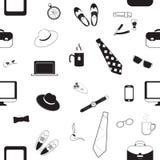 Raccolta in bianco e nero di progettazione Giorno di padri felice Immagine Stock Libera da Diritti