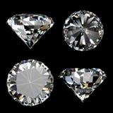 Raccolta brillante del diamante Fotografia Stock Libera da Diritti