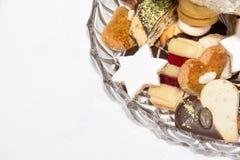 Raccolta casalinga del biscotto di Natale Fotografia Stock
