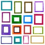 Raccolta colorata delle cornici Fotografia Stock
