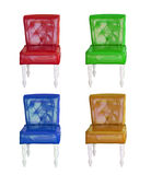 Raccolta d'annata della sedia di cuoio Immagine Stock Libera da Diritti