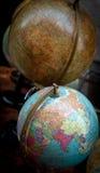Raccolta da tavolino antica del globo Fotografia Stock