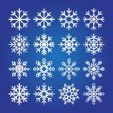 Raccolta decorativa dell'icona dei fiocchi di neve illustrazione di stock