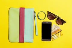 Raccolta degli accessori contemporanei per le donne Immagini Stock Libere da Diritti