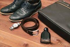 Raccolta degli accessori e dei vestiti di affari dell'uomo Immagine Stock
