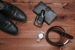 Raccolta degli accessori e dei vestiti di affari dell'uomo Immagini Stock