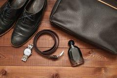 Raccolta degli accessori e dei vestiti di affari dell'uomo Immagini Stock Libere da Diritti
