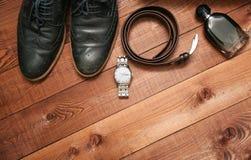 Raccolta degli accessori e dei vestiti di affari dell'uomo Immagine Stock Libera da Diritti