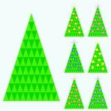Raccolta degli alberi di Natale dei triangoli Immagine Stock