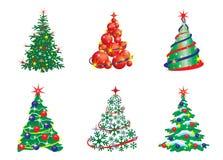 Raccolta degli alberi di Natale del fumetto royalty illustrazione gratis