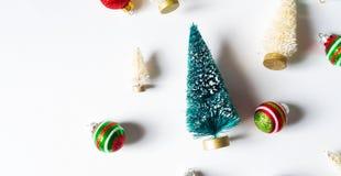 Raccolta degli alberi di Natale e degli ornamenti Immagini Stock
