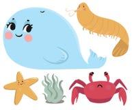 Raccolta degli animali di mare Immagini Stock Libere da Diritti