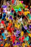 Raccolta degli archi e dei nastri colorati Fotografia Stock