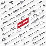Raccolta degli attrezzi per bricolage Immagine Stock