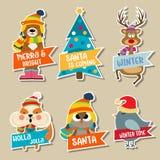 Raccolta degli autoadesivi di Natale illustrazione di stock