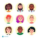Raccolta degli avatar della gente Fotografie Stock Libere da Diritti