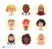 Raccolta degli avatar della gente Immagini Stock Libere da Diritti