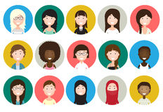 Raccolta degli avatar della gente Immagini Stock
