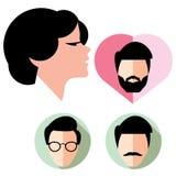 Raccolta degli avatar della gente Fotografia Stock