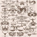 Raccolta degli elementi calligrafici decorativi d'annata di vettore royalty illustrazione gratis