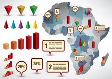 Insieme degli elementi del infograph Fotografie Stock Libere da Diritti