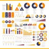 Raccolta degli elementi di Infographic illustrazione di stock