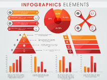Raccolta degli elementi di infographics di affari Fotografie Stock