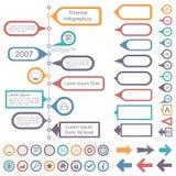 Raccolta degli elementi di Infographics di cronologia royalty illustrazione gratis