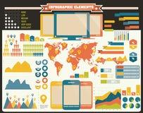 Raccolta degli elementi di infographics, vettore Fotografia Stock Libera da Diritti