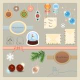 Raccolta degli elementi di Natale Immagine Stock Libera da Diritti