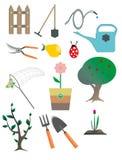 Raccolta degli elementi di progettazione del giardino Fotografia Stock Libera da Diritti