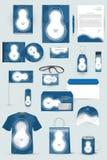 Raccolta degli elementi di progettazione per l'affare, la pubblicità o la visualizzazione di identità corporativa Fotografie Stock Libere da Diritti