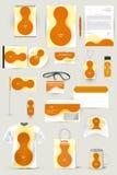 Raccolta degli elementi di progettazione per l'affare, la pubblicità o la visualizzazione di identità corporativa Immagini Stock Libere da Diritti