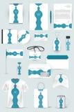 Raccolta degli elementi di progettazione per l'affare, la pubblicità o la visualizzazione di identità corporativa Fotografia Stock