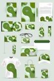 Raccolta degli elementi di progettazione per l'affare, la pubblicità o la visualizzazione di identità corporativa Fotografia Stock Libera da Diritti