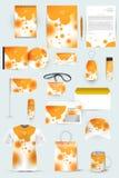 Raccolta degli elementi di progettazione per l'affare, la pubblicità o la visualizzazione di identità corporativa Immagini Stock