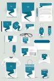 Raccolta degli elementi di progettazione per l'affare, la pubblicità o la visualizzazione di identità corporativa Fotografie Stock