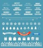 Raccolta degli elementi di vettore di stagione di Natale Fotografie Stock Libere da Diritti