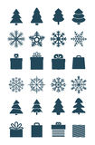 Raccolta degli elementi di vettore di stagione di Natale Fotografia Stock Libera da Diritti
