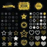 Raccolta degli elementi premio di progettazione Illustrazione di vettore Immagini Stock
