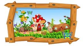 Raccolta degli insetti nel giardino floreale illustrazione vettoriale