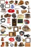 Raccolta degli oggetti d'annata Immagini Stock