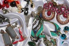 Raccolta degli orecchini d'annata Immagine Stock