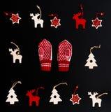 Raccolta degli ornamenti fatti a mano di Natale Immagine Stock Libera da Diritti