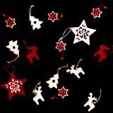Raccolta degli ornamenti fatti a mano di Natale Fotografie Stock