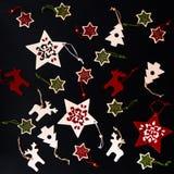 Raccolta degli ornamenti fatti a mano di Natale Fotografia Stock