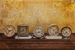 Raccolta degli orologi d'annata Fotografia Stock Libera da Diritti