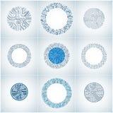 Raccolta degli schemi cibernetici blu futuristici con multidirec royalty illustrazione gratis