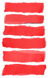 Raccolta degli strappi di carta rossi immagini stock